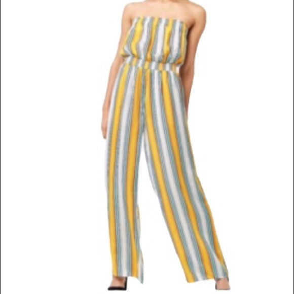 Forever 21 Pants - Forever 21 striped jumpsuit tube romper size small